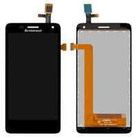 Дисплей для мобильного телефона Lenovo S660, черный, с сенсорным экран