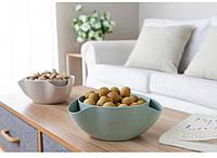 Двойная миска для семечек,орехов зеленая