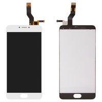 Дисплей для мобильного телефона Meizu M3 Note, белый, с сенсорным экра