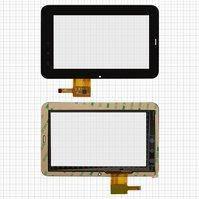 """Сенсорный экран для планшетов China-Tablet PC 7""""; Rainbow Six Liunx T06; Onda Vi10, 7"""", 12 pin, емкостный, черный, (191*119 мм), #PINGBO"""