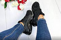 Женские кроссовки черные Хуарачи Черные