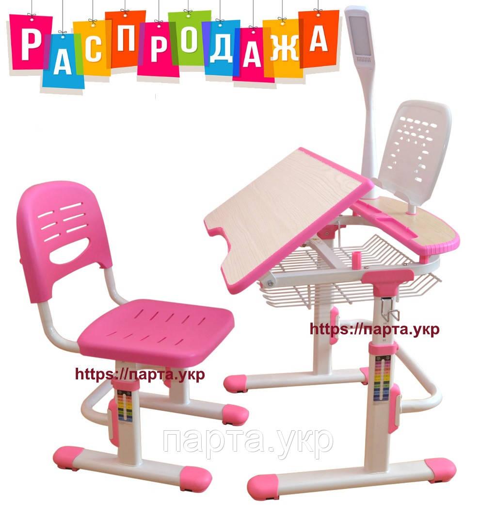Детская парта, стульчик, лампа, подставка, (синий,розовый) - Парта .укр Детские парты, письменные столы и кресла. в Киеве
