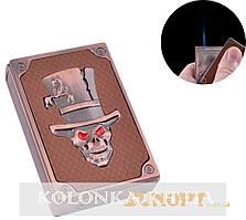 Зажигалка газовая карманная Злобный череп (Острое пламя) №4203-3