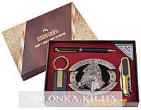 Подарочный набор Конь Пепельница/Нож/Брелок/Ручка №AL-727