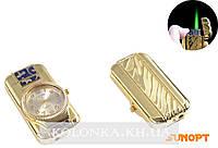 Зажигалка карманная с часами (Турбо пламя) №T 4053 Золото