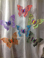 Декоративные бабочки на магните 20 см