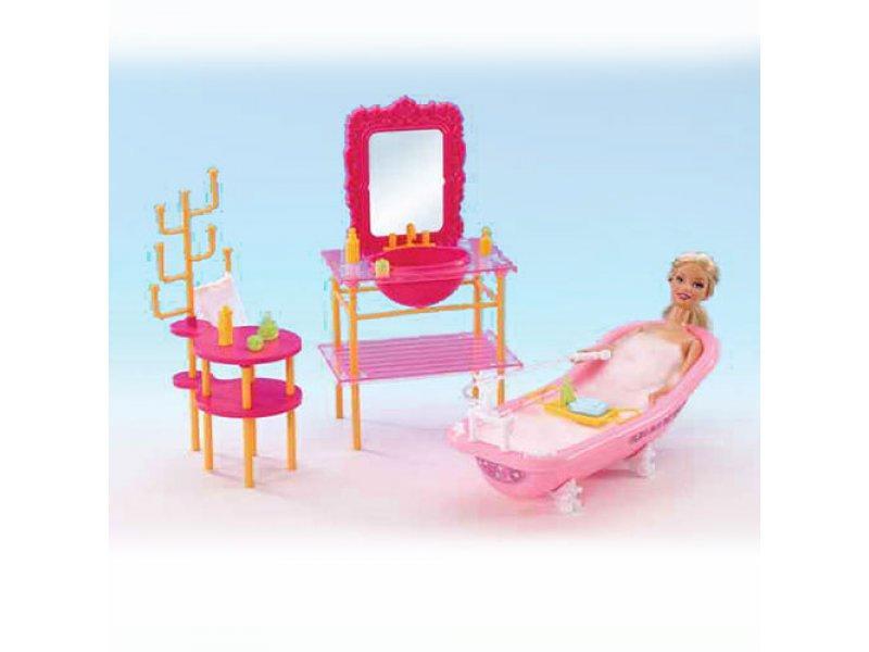 Набор мебели для кукол Gloria Ванная комната 2913
