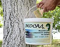 Краска для садовых дереьев и кустов акриловая 14л