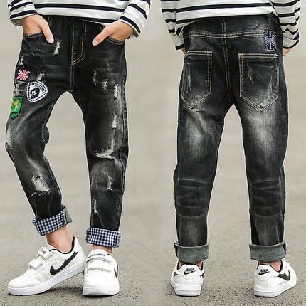 Штани дитячі джинси потерті, фото 2
