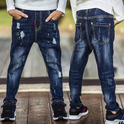 Детские джинсы синие, фото 2