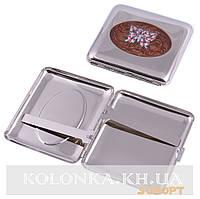 Портсигар на 20 сигарет Бабочка №2436-3