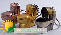Зажигалка карманная-брелок  унитаз (обычное пламя) №4173