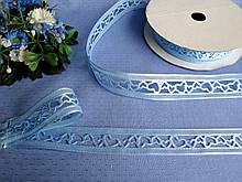 Лента ажурная голубая. Ширина 2,2 см - 9 грн метр
