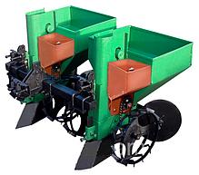 Картофелесажалка двухрядная для мототрактора(1 точка) 90 л с бункером  NEW (новые грунтозацепы) , фото 2