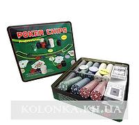 Покерный набор в металлической коробке на 500 фишек №500Т-Х