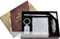 Подарочный набор Moongrass 4в1 -нож/портсигар/брелок/ручка AL-116А