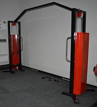 Кросовер тренажер, подвійна блокова рама (2*120 кг)