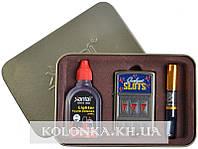 Подарочный набор 3в1 Зажигалка, бензин, мундштук №4712-4