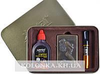Подарочный набор SEXY 3в1 Зажигалка, бензин, мундштук №4713-1