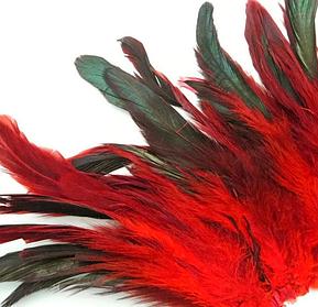Перьевая тесьма из перьев петуха