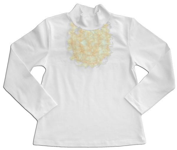 Блуза школьная для девочки с жабо