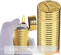 Зажигалка газовая Стопка монет, 6х2,5 см, (остроое пламя) №3472