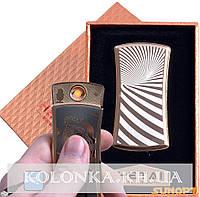 USB зажигалка в подарочной упаковке HETAI (спираль накаливания) №4815-2