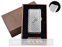 USB + газовая зажигалка в подарочной упаковке (спираль накаливания, острое пламя) Porsche №4819-3