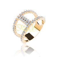 Золотое кольцо с фианитами. ГП20979