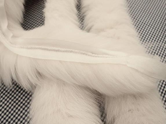 Опушка из песца молочная 70 см., фото 2