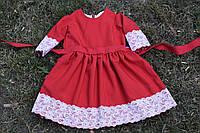 Нарядные платья для девочки красное