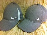 Мужская  бейсболка хлопковая серого цвета  56-57-58-59, фото 2