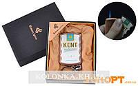 Зажигалка-брелок в подарочной коробке KENT (Острое пламя) №XB-8-1