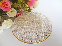 Жемчуг дорогой искусственный, 4 мм, цвет белый, 10 грамм, (~340 шт).