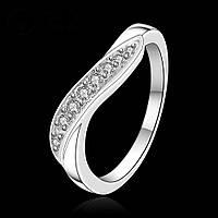 Кольцо Карина фианиты покрытие 925 серебро