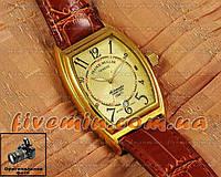 Мужские наручные часы Franck Muller Art Deco Gold Brown Франк Мюллер механические с автоподзаводом