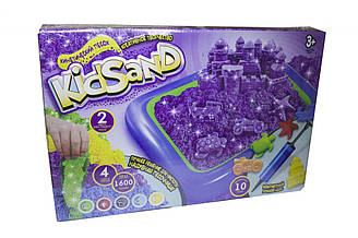 """Кинетический песок """"KidSand"""" 1600г + песочница"""