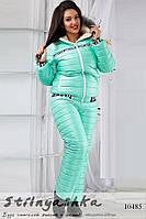 Лыжный костюм большого размера ментол
