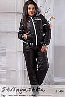 Лыжный костюм большого размера черный