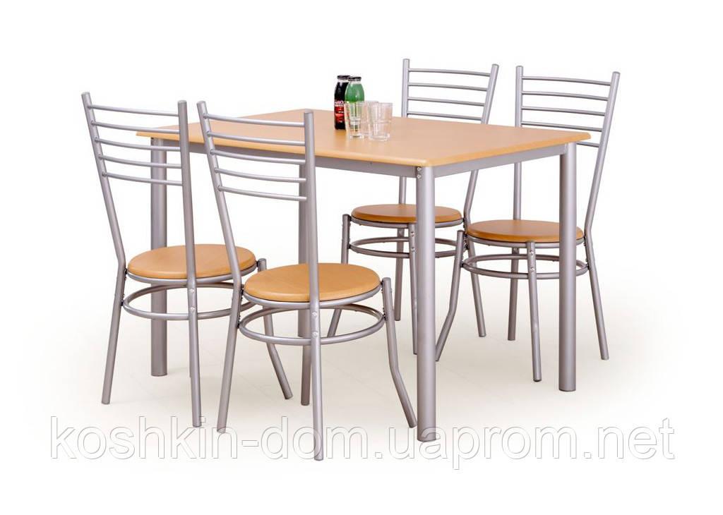 Комплект обеденный Elbert Halmar (стол + 4 стула)