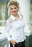 Нарядная белая Рубашка Влада