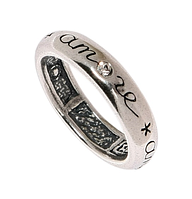 """Кольцо """"Кид"""" с кристаллами Swarovski, покрытое серебром (m2563000)"""