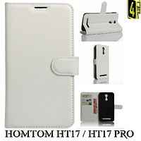Чехол для Homtom HT17 / HT17 Pro, с бампером, Premium, белый