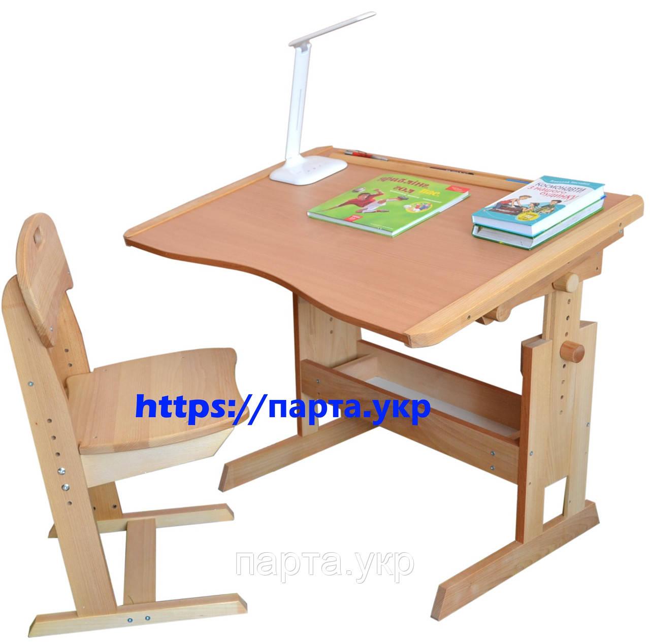 Стол парта и стул регулируемые 90 см.для школьника.