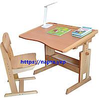 Стол парта и стул регулируемые 90 см.для школьника., фото 1