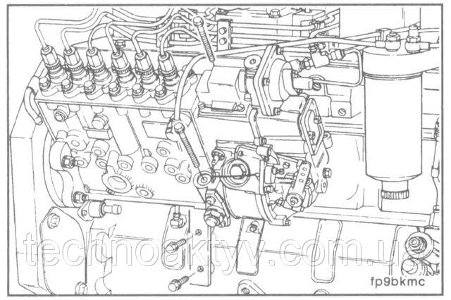 Ключ 10 мм  Снимите установочный кронштейн топливного насоса.