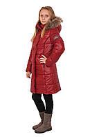 """Детское, зимнее, утепленное пальто для девочек """"Яна"""".( цвет терракотовый )"""