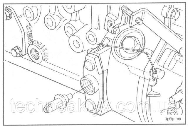 Выньте фиксатор установки момента впрыскивания топлива.