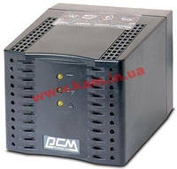 Powercom стабилизатор TCA-1200, 600Watt / 1200 VA, реле, 1xShuko (Surge Protection) (TCA-1200 black)
