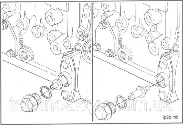 Ключ 24 мм  Снимите заглушку фиксатора. Разверните фиксатор на 180 градусов и установите его вновь, закройте заглушкой с уплотнительной шайбой.  Крутящий момент затяжки:15 Н • м [11 ft-lb]